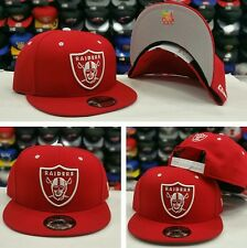 Exclusive New Era NFL Shield Oakland Raiders 9Fifty Snapback hat RED