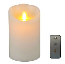 Promotion Remote Ready 5inch Ivory Real Wax LED Flameless Candle Luminara Candle