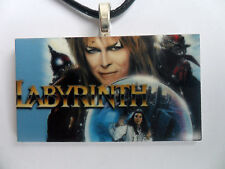 David Bowie LABYRINTH  Pendant Leather Necklace  Carded