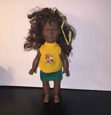 "Lucky Ind Co African American Doll Vtg 1987 Marcia Neal Design Black 11"" Toy"