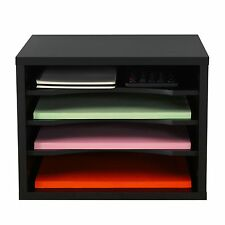 Fitueyes Desktop File Organizer Compartments Office Supply Storage Holder Black