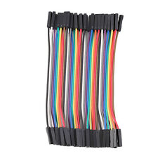 40pcs/Row 10cm 2.54mm Female to Female Wire Jumper Cable 1P-1P For Arduino 7C