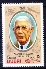 Dubai MNH, Charles de Gaulle, French General, led Free French Forces in World