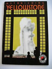"""Vintage Travel Booklet for """"Yellowstone"""" via Northern Pacific Rail Way"""