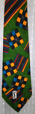 Yves Saint Laurent Green Orange Geometric Pattern Tie SALE ! Sale !