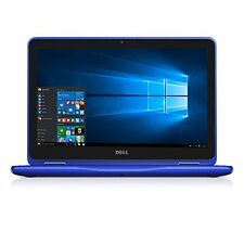 "Dell 11.6"" 2-in-1 Laptop 1.6GHz 4GB 500GB Win 10 - Blue (i3168-3271BLU)"