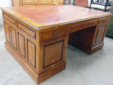 Antique English Partners Desk, 19th Century, Walnut #7889