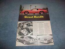 """1983 Camaro Z/28 Vintage Article """"Street Bandit"""" Auto Motif"""