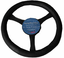 BLACK PU LEATHER LOOK UNIVERSAL CAR/VAN STEERING WHEEL COVER/GLOVE/PROTECTOR 307