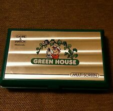 NINTENDO GREEN HOUSE GAME & WATCH MULTISCREEN PORTABLE HANDHELD SYSTEM