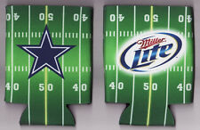 NEW!!!! DALLAS COWBOYS Miller Lite Beer Bottle Can Neoprene GREEN Koozie!!!!!!!