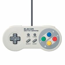ELECOM Classic USB Gamepad game pad 8 button JC-FR08TWH Controller