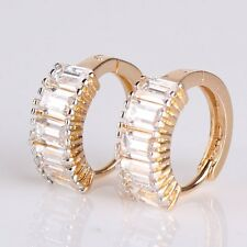 18K gold filled white sapphire new arrival fashionable band Huggie earring