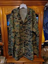 ULTRA  RARE USMC WOODLAND SHIRT DIGITAL MARINE SIZE XX LARGE XX LONG W/ GLOBE