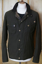 Mens Barbour Steve McQueen 9665 waxed olive jacket M Medium Small rrp £249