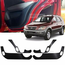 Carbon Door Decal Sticker Cover Kick Protector For KIA 2006-2008 2009 Sorento