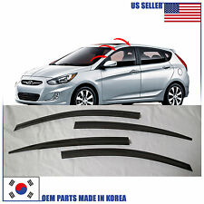 A139 SMOKED DOOR WINDOW VENT VISOR DEFLECTOR HYUNDAI ACCENT HATCHBACK 2012-2016