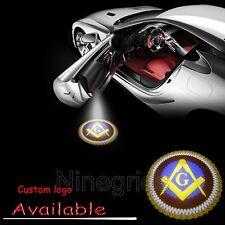 LED Courtesy Ground Light Freemason Masonic Square Compass Emblem Car Door Lamp