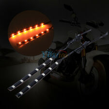 2PCS 6LED 5050 SMD Motorcycle LED Strip Turn Signal Indicator Blinker Light Cool