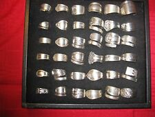 SPOON RINGS-15 SILVER PLATE-WHOLESALE LOT- FANCY