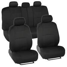 Car Seat Covers for Chevrolet Malibu 2 Tone Color Black w/ Split Bench