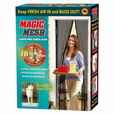 MAGIC MESH MAGNETIC CURTAIN HANDS FREE NET SCREEN FLY MOSQUITO INSECTS BUGS DOOR