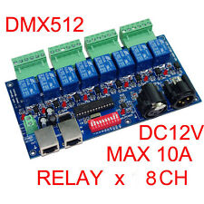 8 Channel DMX512 Controller Relay Switch Kit DIY Converter 8 Way Relay Switch