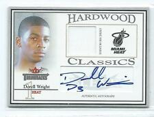 2004-05 Fleer Throwbacks Dorell Wright Hardwood Classics JERSEY AUTO RC 3/50