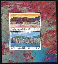 SAN MARINO 1997 HONG-KONG-VIEW from HARBOUR/SKYLINE/EARHT/BUILDINGS/SEA/MOUNTAIN