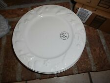 New Mint White Varages Sea Shell Dinner Plate Made in France