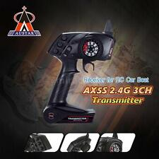 AUSTAR AX5S 2.4G 3CH AFHS Radio Transmitter with Receiver for RC Car Boat J8U9