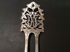 Antique Victorian Sterling Marked Hair Comb 9.2g silver