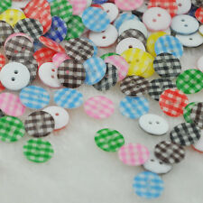 100Pcs New Mix Cute Flower Plastic Resin Button / Sewing Mix 13mm PT16