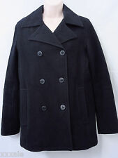 "American Eagle Outfitters Small Pea coat Black Dk Blue ? Wool Blend 38"" Bust"