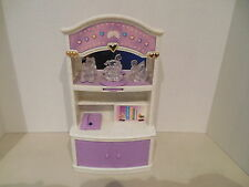 Vintage Geoffrey Doll house Furniture Dresser Hutch Bedroom Lights Sounds