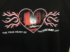 Size 3XL True Heart Of Hemi Owner Black T Shirt Made In USA