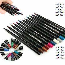 12 Color Waterproof Eye Shadow Eyeliner Lip Liner Pencil Pen Cosmetic Makeup Set