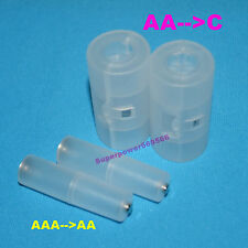 AA to C,  AAA to AA size battery converter case adapter holder spacer switcher