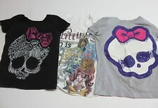 Monster High Girl's T-Shirts Size 6 Lot of 3