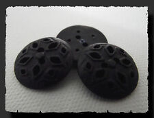 5 BOUTONS NOIR ajouré * 19 mm 1,9 cm * 2 trous * black Button sewing