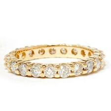 4ct Brilliant Round Created Diamonds Eternity Wedding Band Ring 14K Yellow Gold