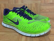 RARE�� Nike Free 4.0 V2 Electric Green Night Blue Pure Platinum Sz 14 511472-340