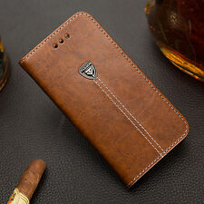 Luxury magnetic flip leather case walet iPhone shell Samsung Press Installation