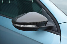 CARBON FIBRE WING MIRROR TRIM SET COVERS CAPS FOR VW VOLKSWAGEN PASSAT B7 10-14