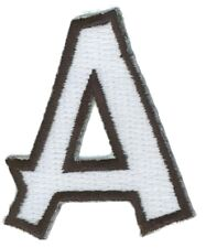 Letter A Embroidered Iron On Alphabet Patch Applique wx0019a