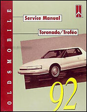 1992 Oldsmobile Toronado and Trofeo Repair Shop Manual 92 Olds Original Service