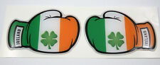 2 Boxing Gloves Ireland Irish Flag Domed Decal Emblem car stickers 3.5""