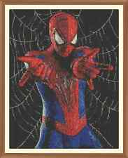 Spiderman-cross stitch chart 12.0 x 9.4 pollici
