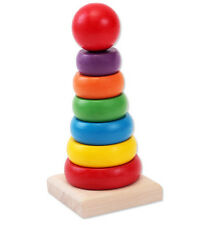 Baby Stacking Stack Up Nest Rainbow Tower Ring Learning Education Wooden Toy