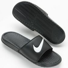 NWT - Nike Benassi Swoosh Slide Sandals - Men's Size 10 Black